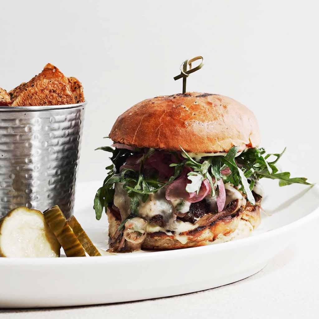 AIX restaurant food: cheeseburger