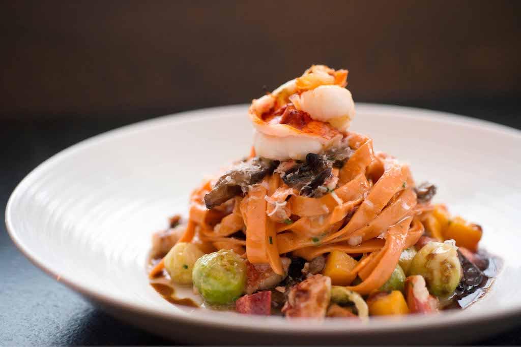 Island Creek Oyster Bar food: seafood pasta