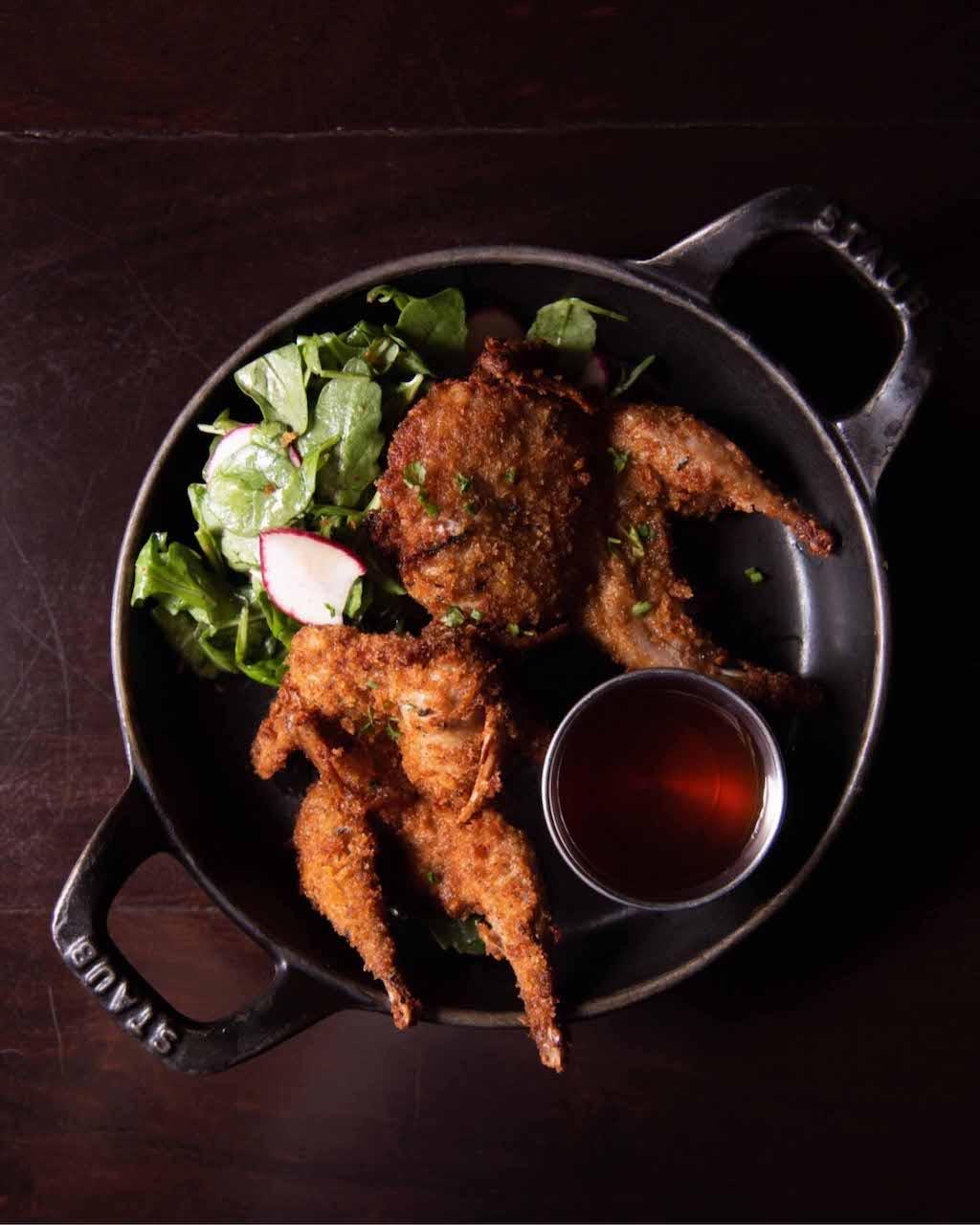 Eastern Standard restaurant food: fried quail