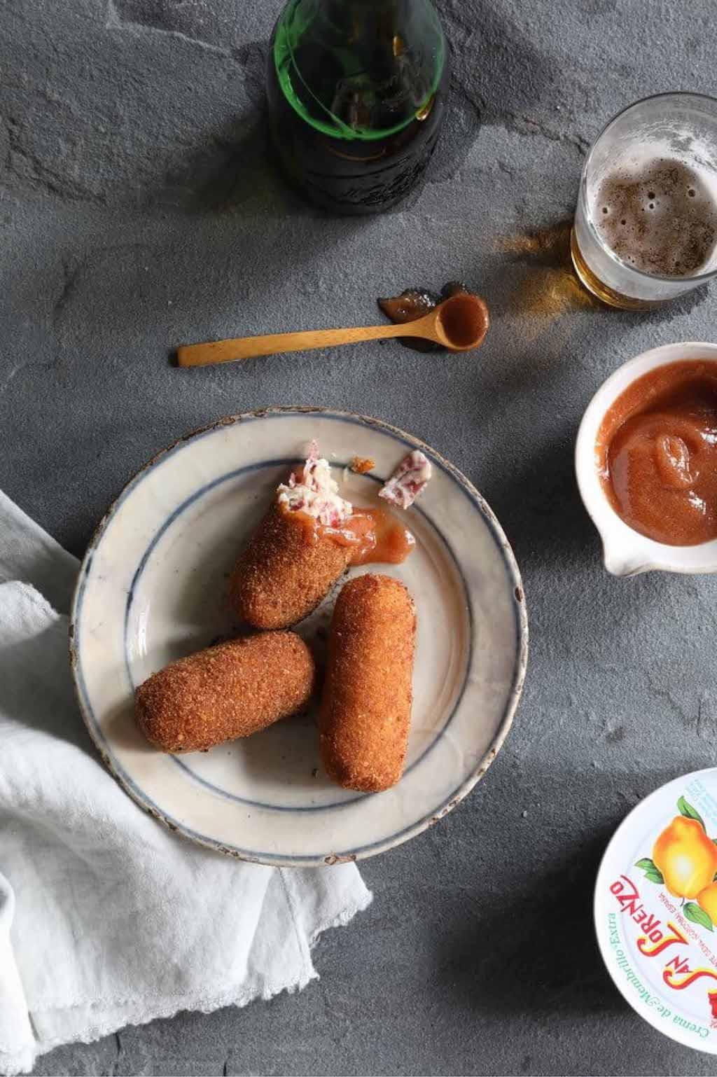 Boqueria restaurant food: croquettes