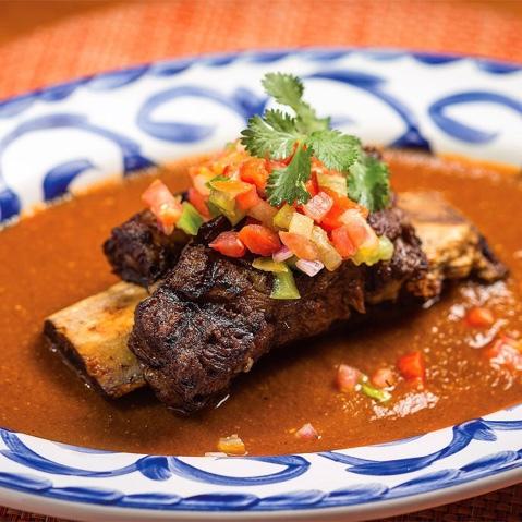 Rosa Mexicano restaurant food: pork chop