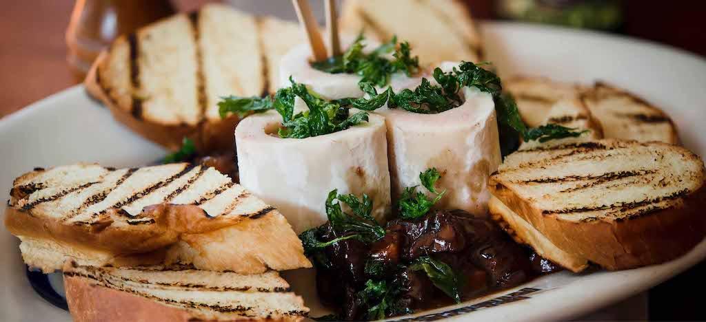Blue Ribbon Brasserie restaurant food: bone marrow