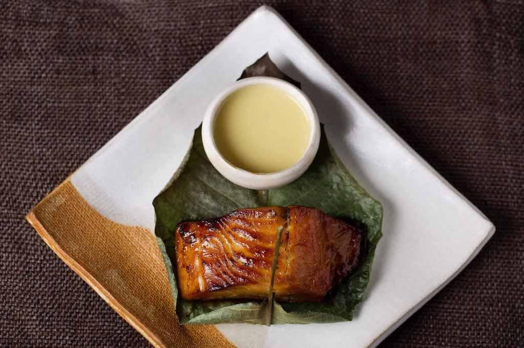 Zuma restaurant food: salmon